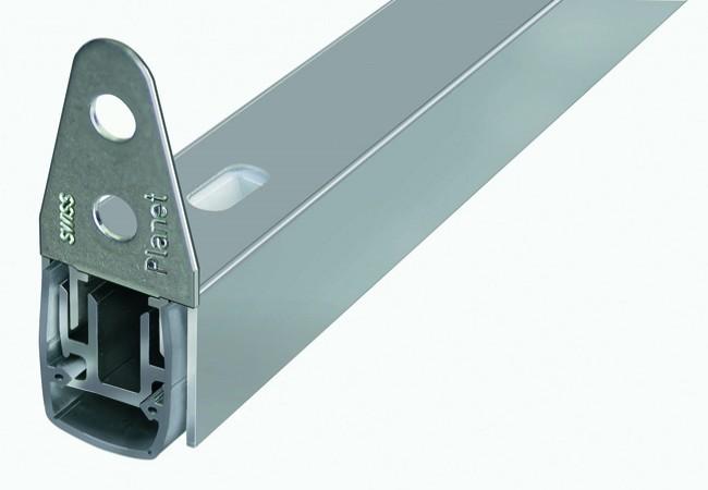 Listwa uszczelniająca progowa opadająca PLANET MF, L-960 mm ,(50dB),PCV i aluminium LI-PL-030