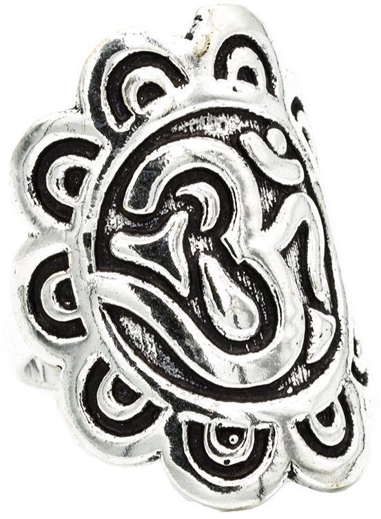 Om - pierścień (mosiądz - kolor srebrny)