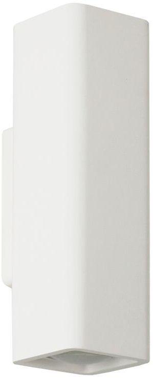 Lampex Tobi 705/1 BIA kinkiet lampa ścienna nowoczesna gips zaokrąglony kształt biała GU10 2x40W 10cm