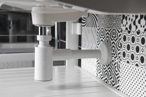 Syfon umywalkowy butelkowy 1''1/4, odpływ 32mm, biały