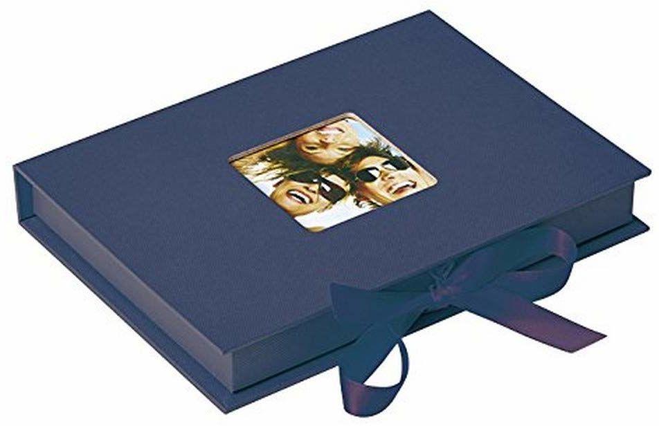 Walther designerskie pudełko na prezent zabawne, niebieskie, do zdjęć w formacie do 13 x 18 cm