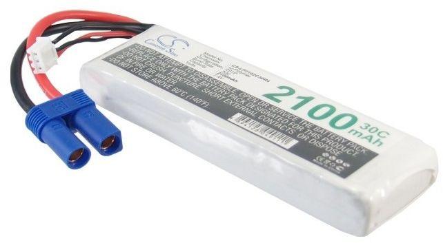 2100mAh 15.54Wh Li-Polymer 7.4V 2S 30C EC5 (Cameron Sino)