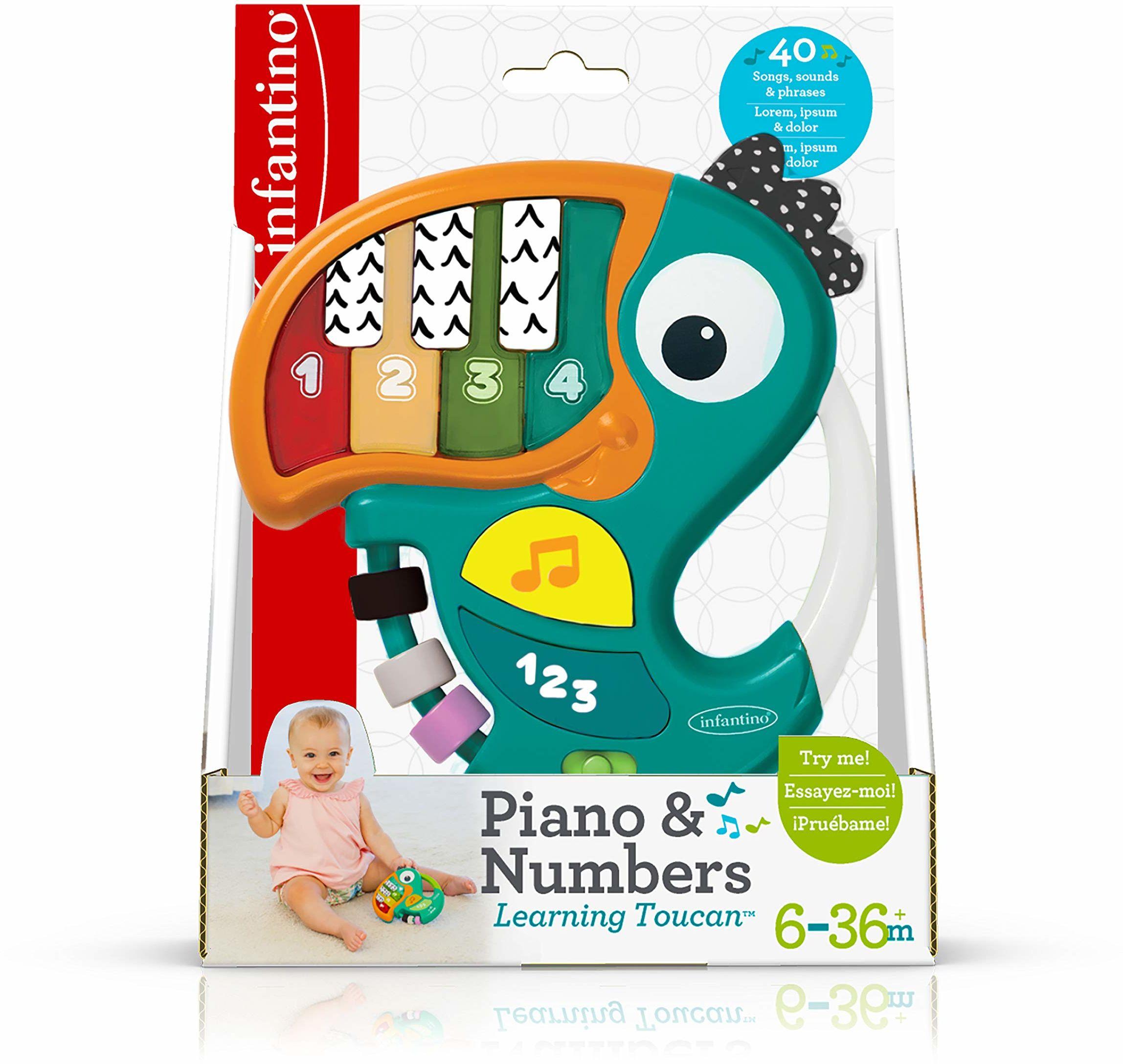 Infantino Fortepian i cyfry gra edukacyjna, wielobarwna