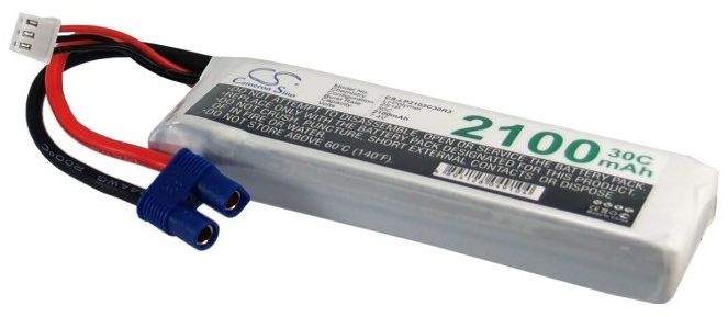 2100mAh 15.54Wh Li-Polymer 7.4V 2S 30C EC3 (Cameron Sino)
