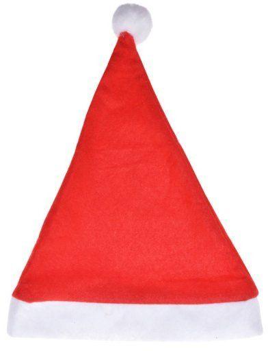 Czapka Świętego Mikołaja z pomponem 1 szt SM9616