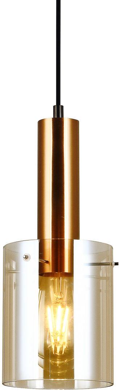 Lampa zwis SARDO PND-5581-1-BRO+AMB - Italux  SPRAWDŹ RABATY  5-10-15-20 % w koszyku