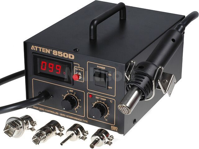 Stacja lutownicza na gorące powietrze ATTEN AT850D 230V