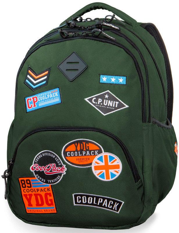 CoolPack - Bentley Plecak młodzieżowy Badges Green 24054
