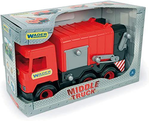 Middle Truck śmieciarka czerwona w kartonie