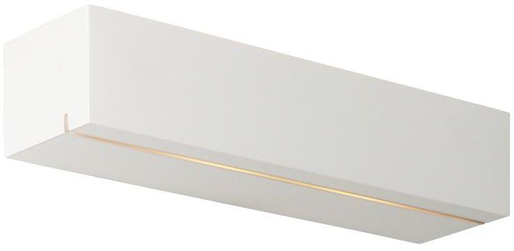 Lampex Peter 711/1 BIA kinkiet lampa ścienna nowoczesna biały geometryczny kształt G9 2x40W 35,5cm