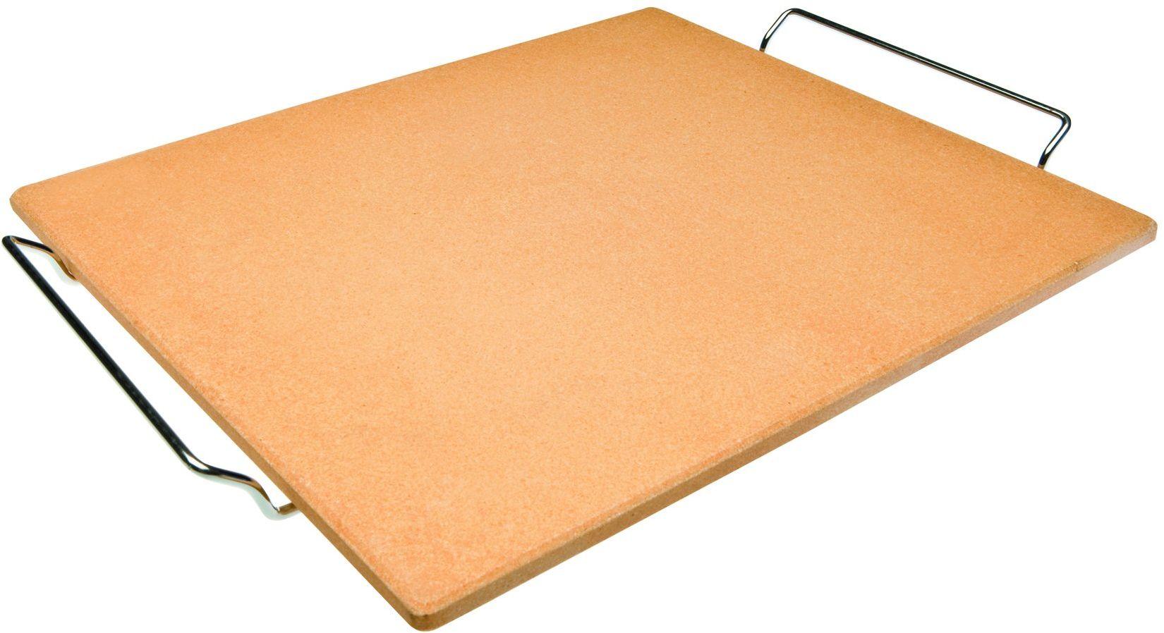 Ibili 784338 kamień do pizzy, prostokątny, 38 cm x 30 cm x 1 cm, pomarańczowy