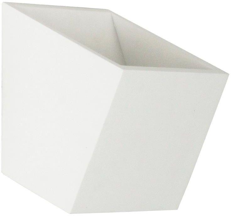 Lampex Tim 712/1 BIA kinkiet lampa ścienna nowoczesny geometryczny kształt gips biały G9 1x40W 12cm