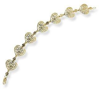 Bransoleta w kształcie serc ze złota lpbr-31z-r