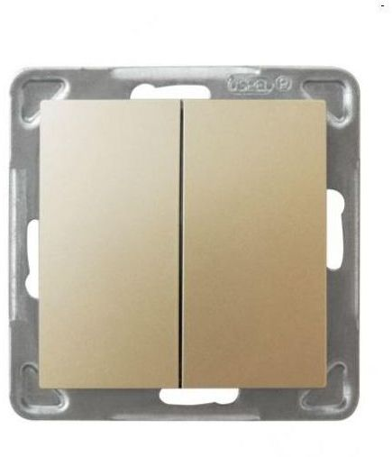 Włącznik schodowy podwójny IMPRESJA Złoty OSPEL