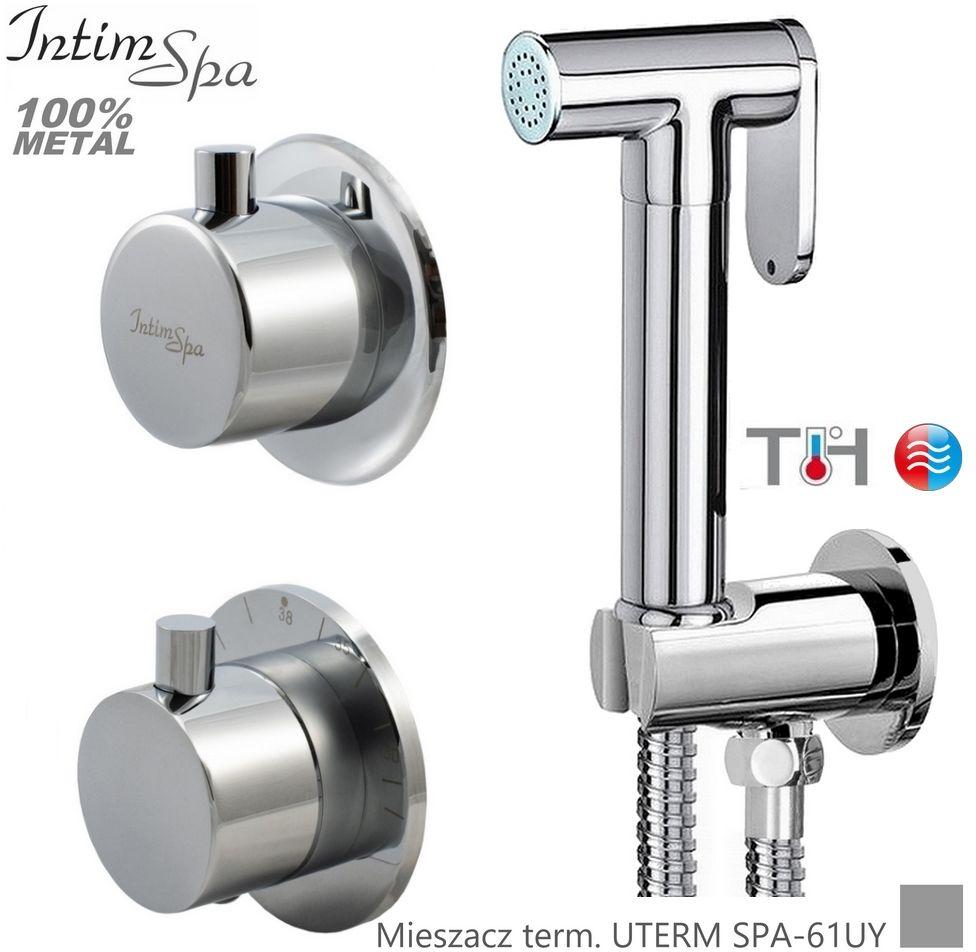 UTERM Bidetta komplet - mieszacz termostatyczny, rączka 61, wąż 120, przyłącze z uchwytem, IntimSPA
