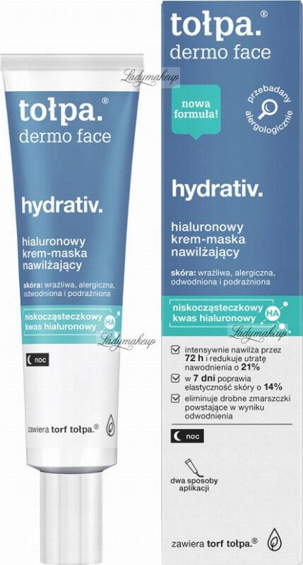 Tołpa - Dermo Face - Hydrativ - Hialuronowy krem - maska do twarzy - Noc - 40 ml