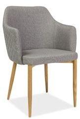 Nowoczesne krzesło Astor szare