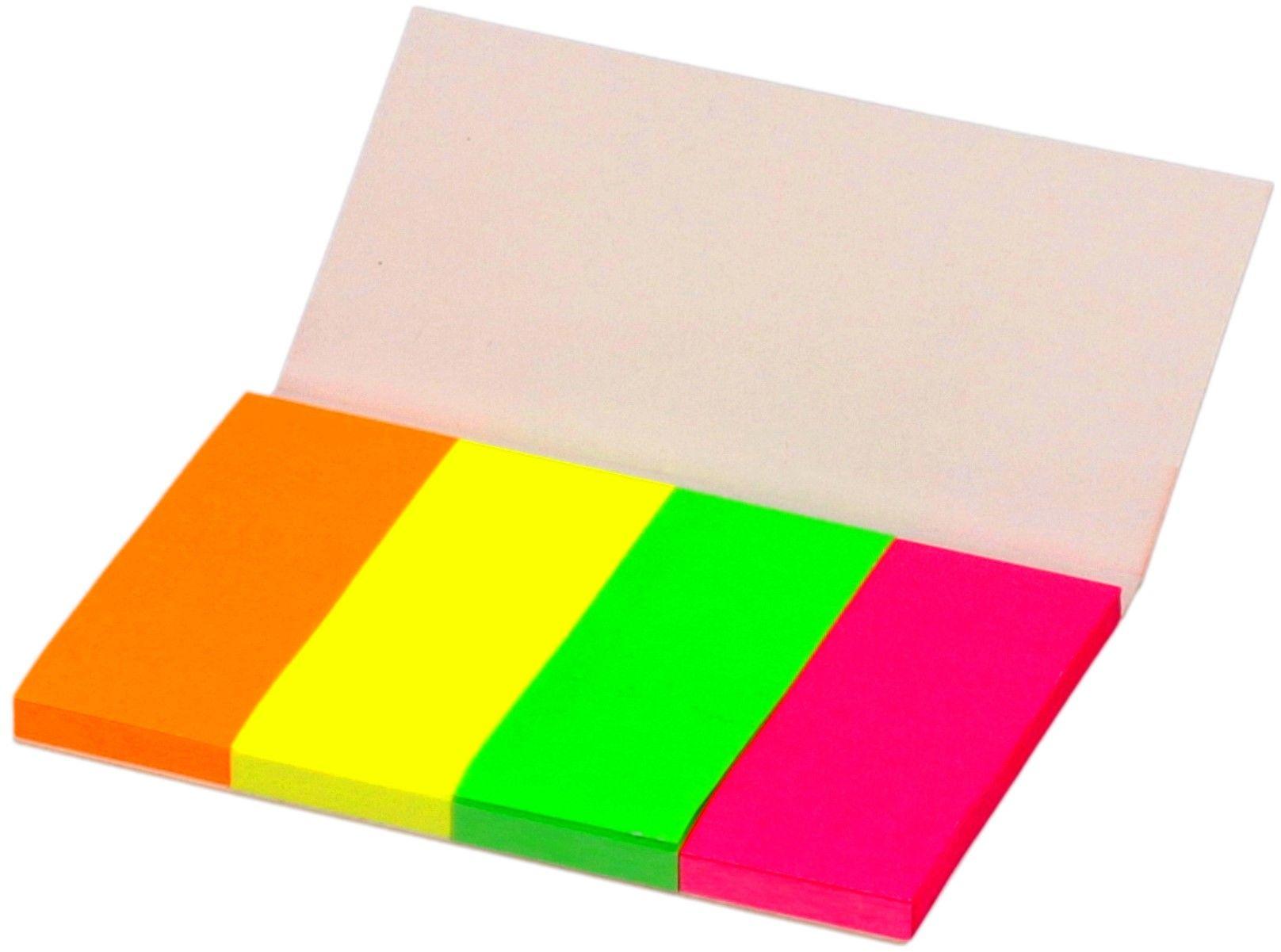 Zakładki indeksujące 20x50/40 4kol neon Contacta