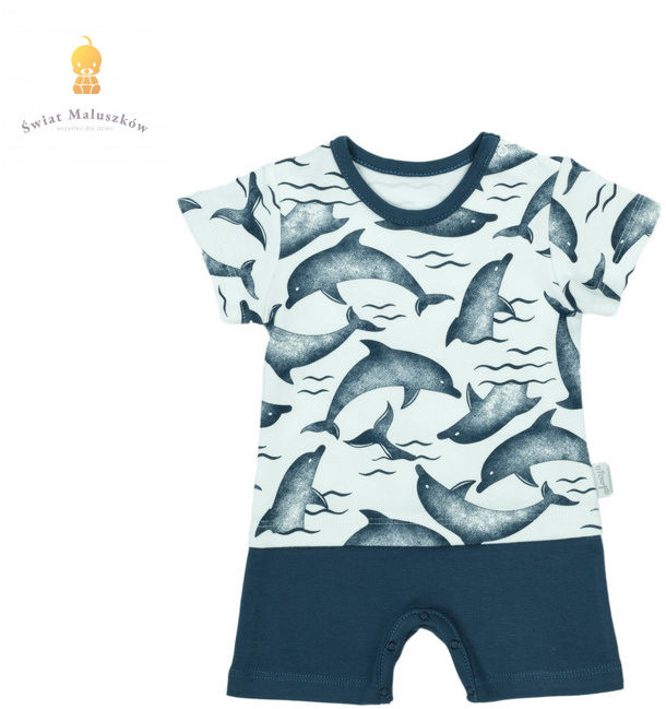 Rampers dla chłopca Delfin NICOL r.56-86
