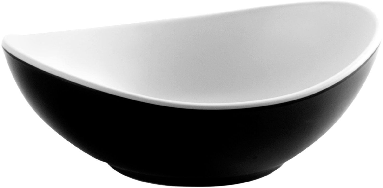 Lacor owalna Melamina Fuji Bowl, czarna, 18 x 13 x 6 cm