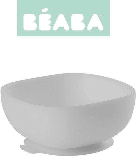 Beaba Silikonowa miseczka z przyssawką grey 913433- Beaba, naczynia dla niemowlaków