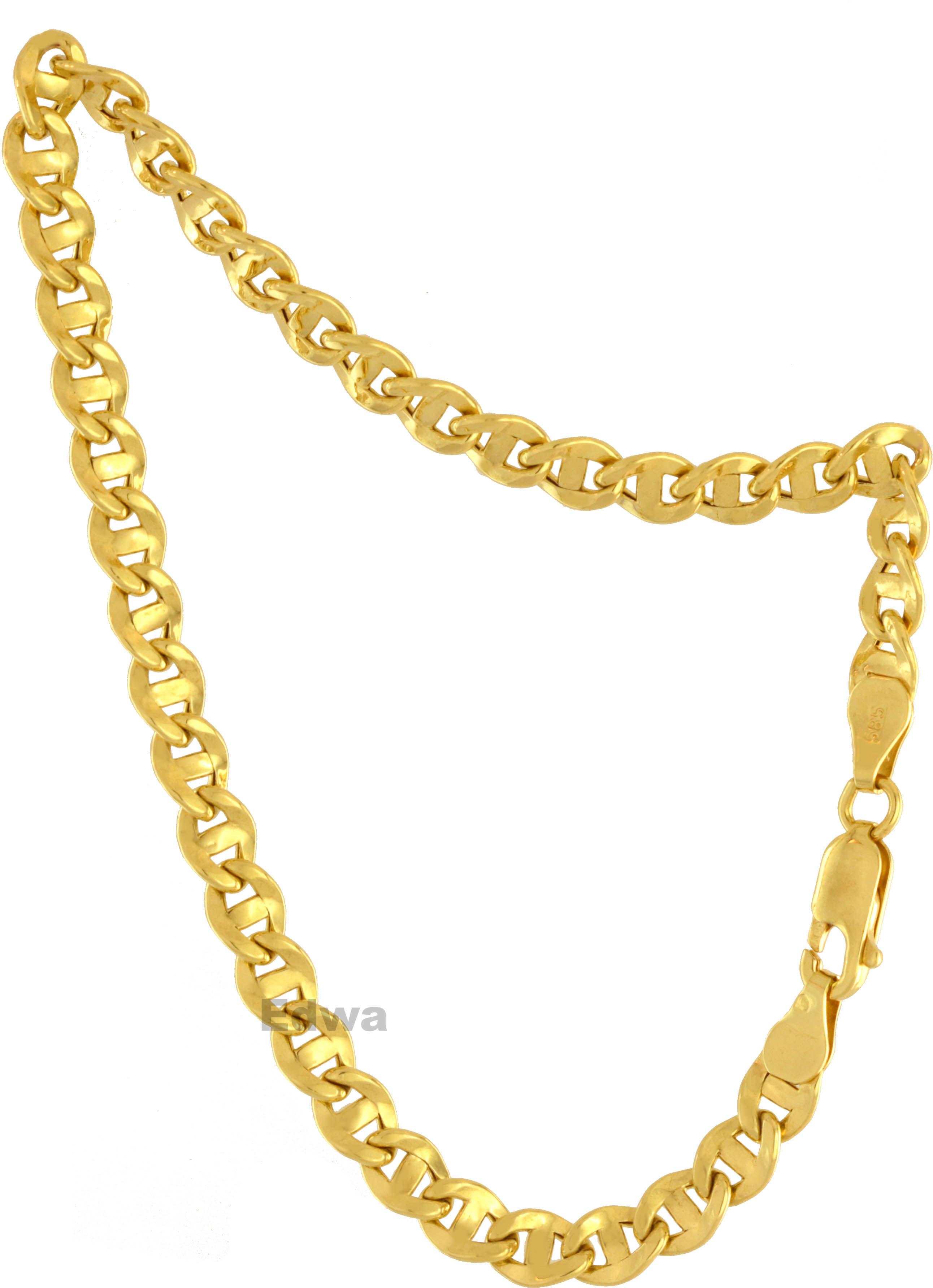 Bransoletka złota, wzór Gucci, dmuchane złoto pr.585 21 cm