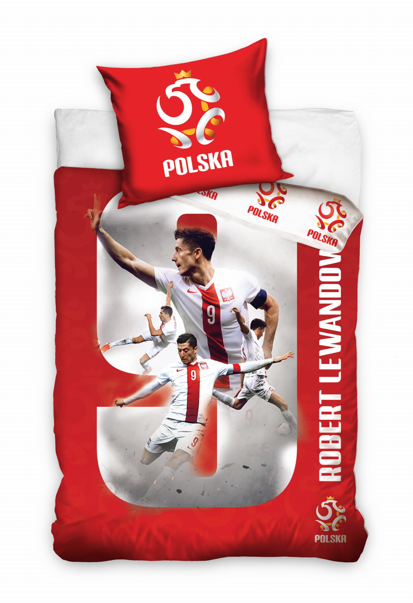 Pościel Piłkarska 160x200 Lewandowski PZPN numer 9