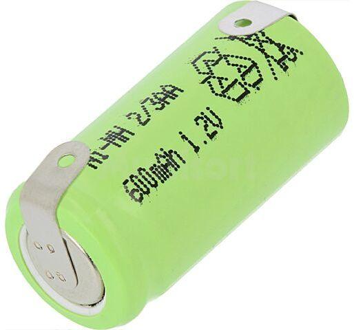 Akumulator Ni-MH 2/3AA 1,2V 600mAh fi13,9x28,1mm JJJ z blaszkami