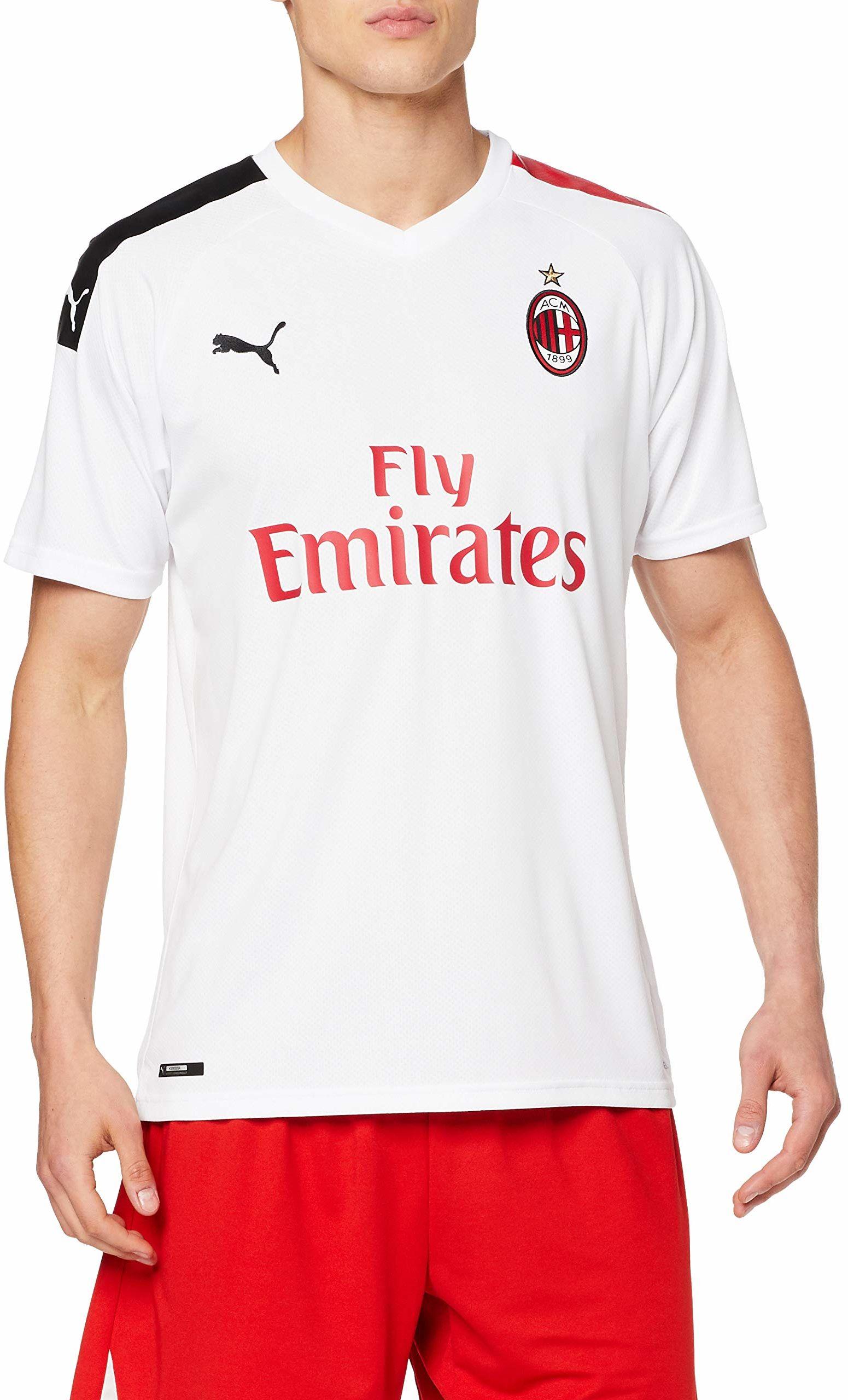 PUMA Męska koszulka wyjazdowa Ac Milan 1899 Repl. Top1 Player biały Puma White/Tango Red L