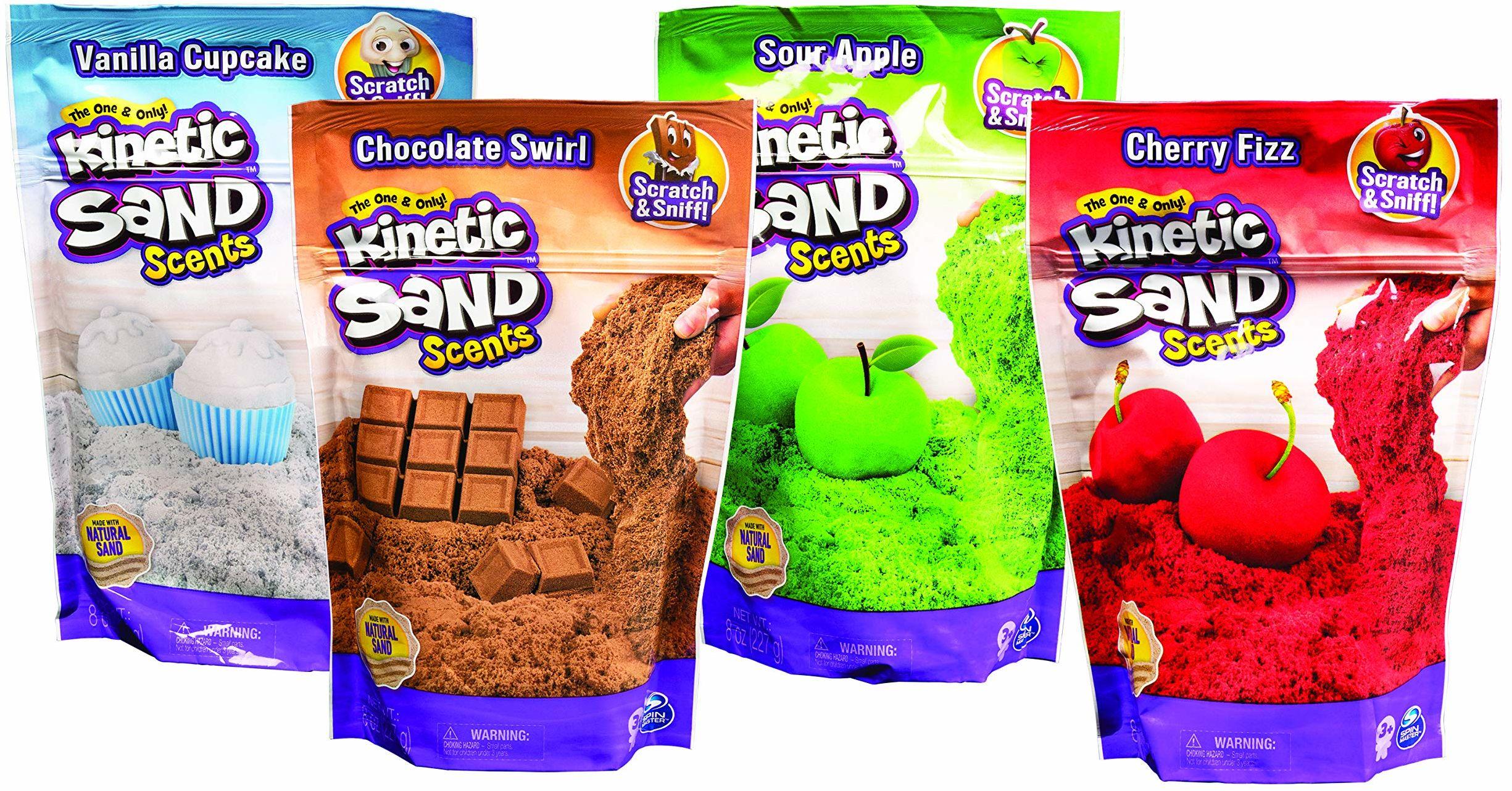 Kinetic Sand, Smakowite zapachy, piasek kinetyczny o zapachu czekolady, dla dzieci od 3 lat-losowy model