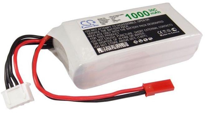 1000mAh 11.10Wh Li-Polymer 11.1V 3S 30C (Cameron Sino)