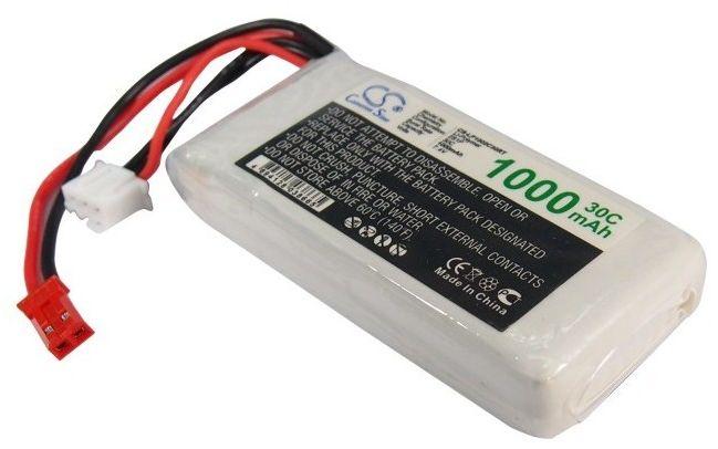1000mAh 7.40Wh Li-Polymer 7.4V 2S 30C (Cameron Sino)