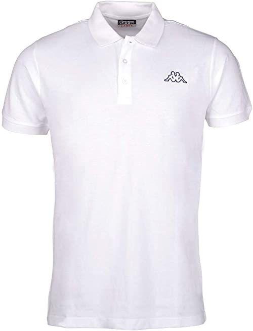 Kappa Męska koszulka polo Peleot, biała, XXXXXL