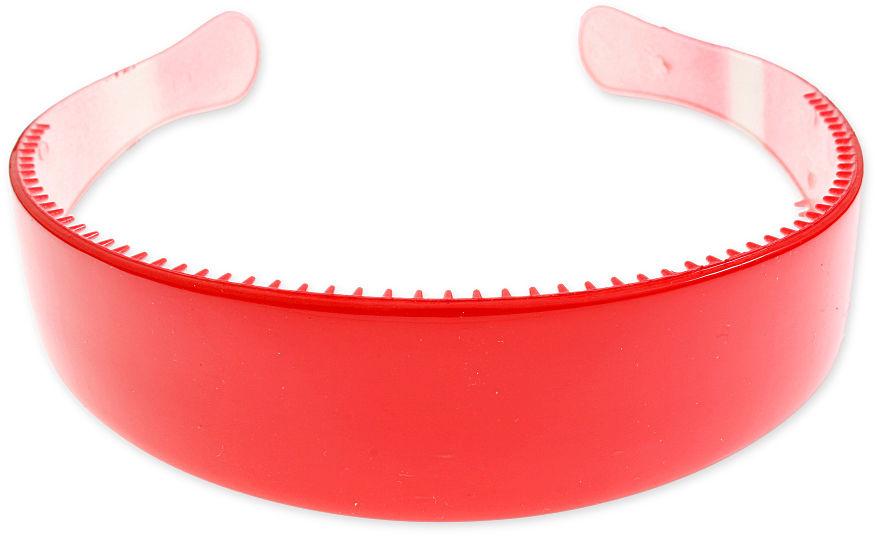 CZERWONA OPASKA PLASTIKOWA opaski styl sportowy plastik pin up girl z grzebykiem kolor pastelowy (cj1852)