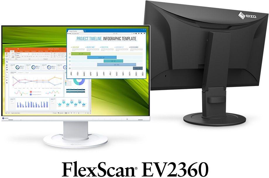 """EIZO EV2360-WB - monitor LCD 22,5"""" z regulowaną stopką (biały) - Certyfikaty Rzetelna Firma i Adobe Gold Reseller"""