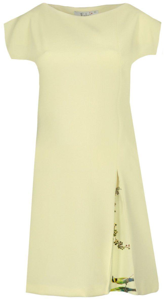 Sukienka FSU687 ŻÓŁTY JASNY