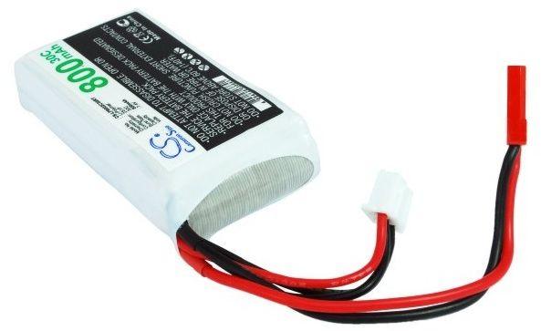 800mAh 5.92Wh Li-Polymer 7.4V 2S 30C (Cameron Sino)
