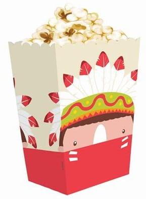 """Pudełka na popcorn """"Indiańskie Party"""""""