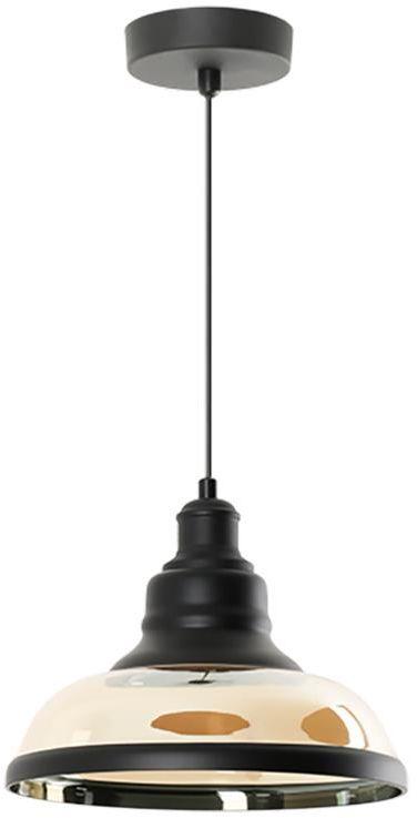 Lampex Primo 769/1 lampa wisząca nowoczesna szklany klosz metalowe zawiesie miedziane E27 1x60W 30cm