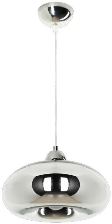 Lampex Dalila 774/1 lampa wisząca nowoczesna szklany klosz pokryty chromem E27 1x60W 28cm