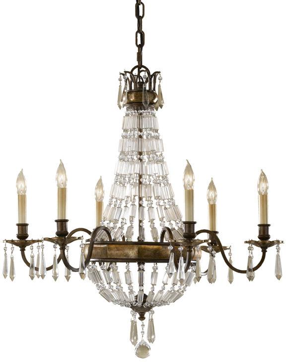 Żyrandol Bellini FE/BELLINI6 Feiss dekoracyjna oprawa w stylu kryształowym