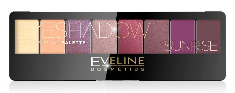 EVELINE - Eyeshadow Professional Palette - Paleta 8 cieni do powiek - 01 SUNRISE