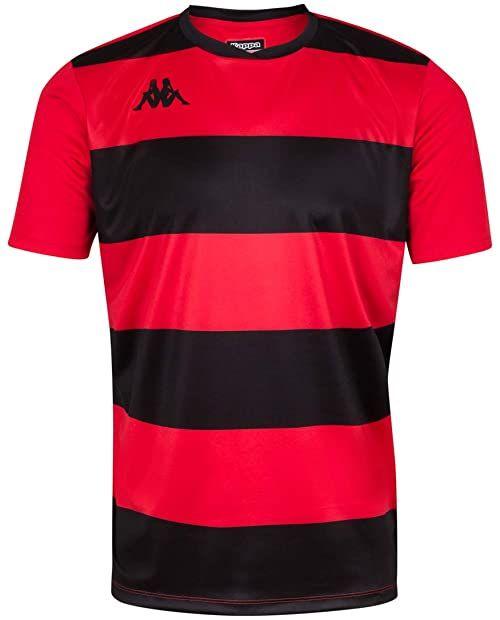 Kappa Casernhor SS koszulka piłkarska dla mężczyzn XXL czarno-czerwona 2XL