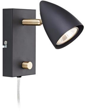 Kinkiet Ciro 106318 Markslojd oprawa na ścianę w czarnym kolorze z opcją ściemniania