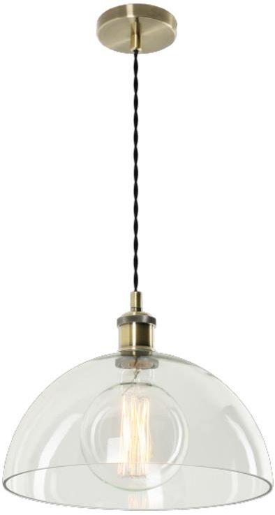 Lampex Mafi 781/1 lampa wisząca nowoczesna industrialna przezroczysty klosz patynowa oprawa E27 1x60W 30cm