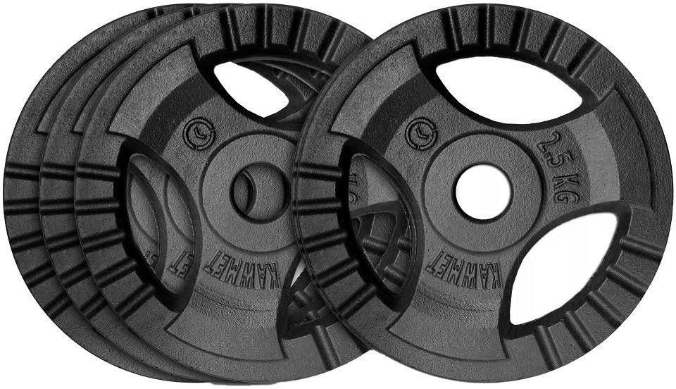 Zestaw obciążeń żeliwnych 10 kg (30,5 mm) - 4x2,5 kg