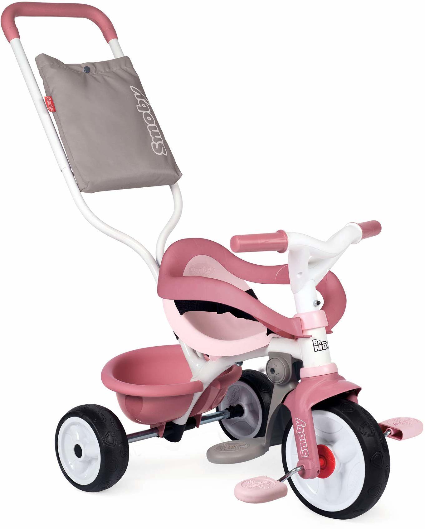 Smoby 7600740415 Rowerek Trójkołowy Be Move Komfort 7600740415 Różowy ,Różowy