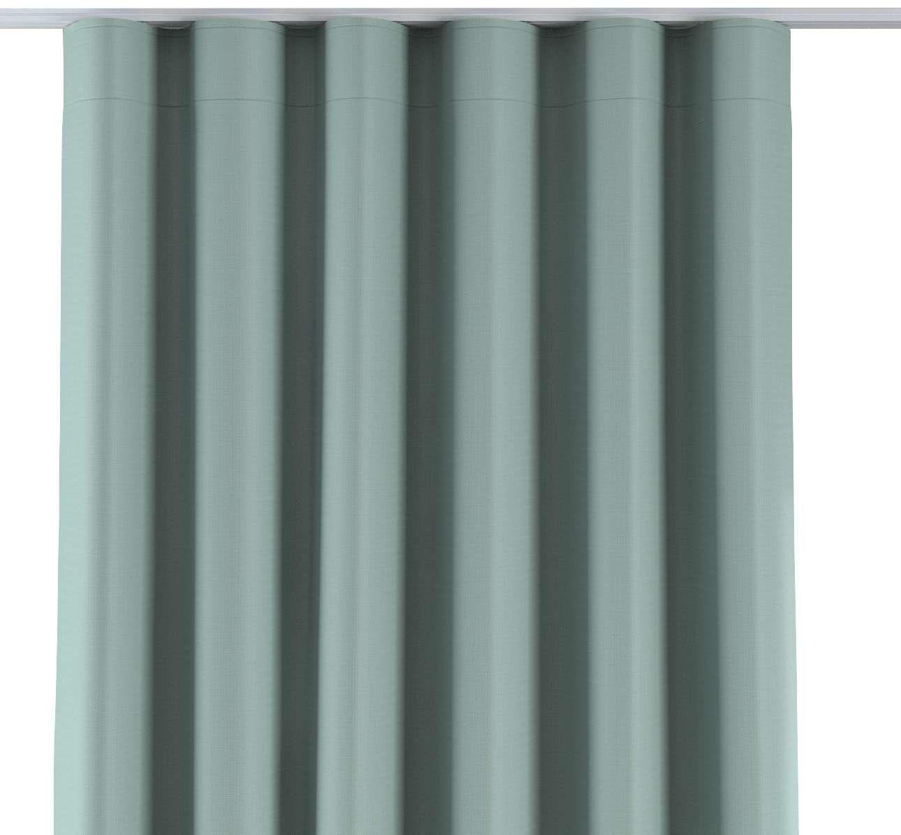 Zasłona na taśmie wave, pastelowa mięta o wyraźnej strukturze, 1szt 65  280 cm, Blackout - zaciemniające