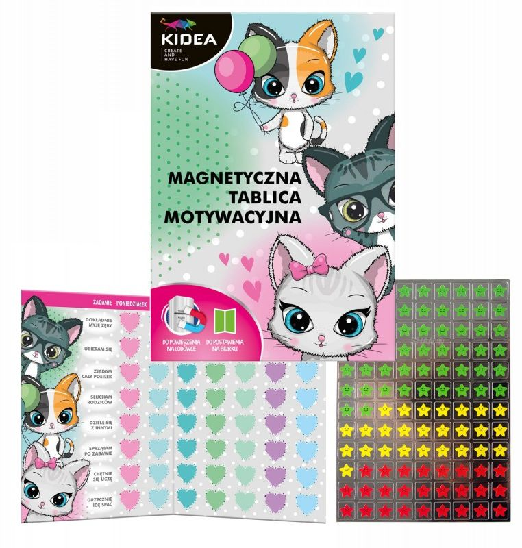 Tablica motywacyjna magnetyczna Kidea TMMAKA TMMEKA, Motyw: Koty