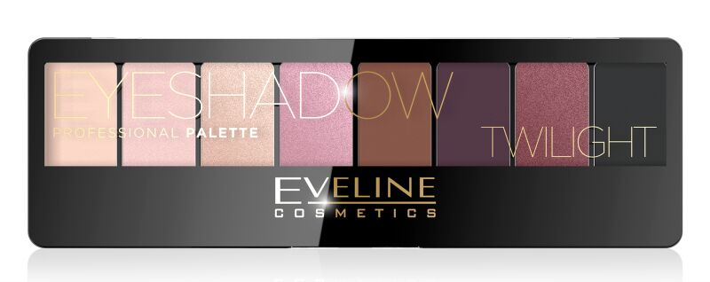 EVELINE - Eyeshadow Professional Palette - Paleta 8 cieni do powiek - 02 TWILIGHT